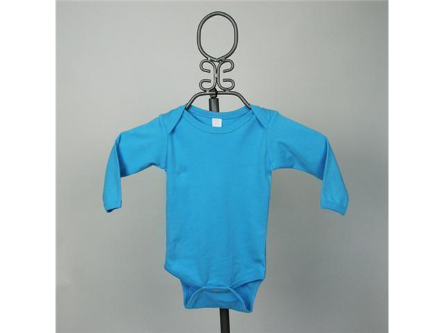 Baby Milano Turquoise Long Sleeve Bodysuit