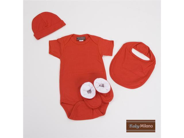 Baby Milano Red 4 piece Baby Gift Set for Boy or Girl