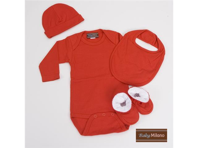 Baby Milano Red Unisex Baby Clothes Gift Set