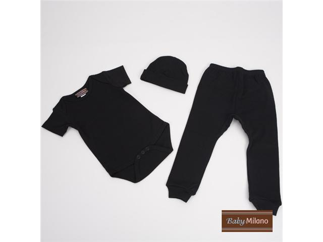 Baby Milano Black 3 piece Baby Outfit
