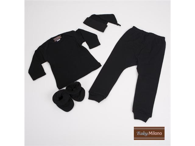 Baby Milano Black 4 piece Baby Outfit
