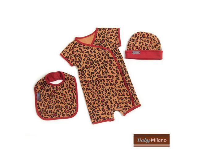 Baby Milano Designer Baby Clothes Leopard Print Gift Set