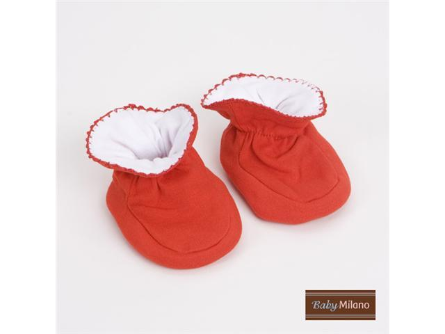 Baby Milano Red Baby Booties