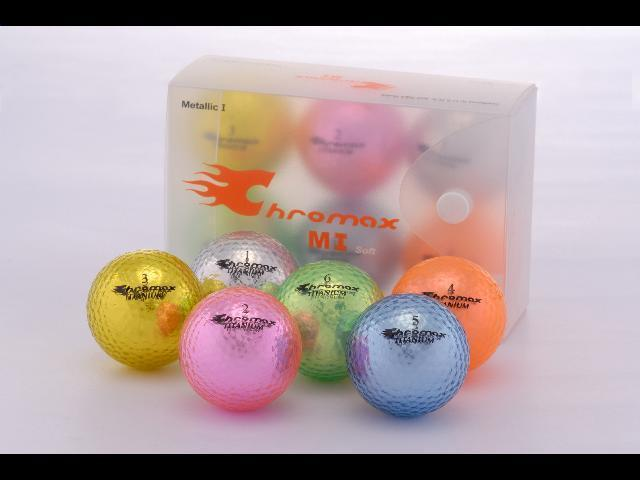 Golf Chromax M1 Golf Ball Green Shiny 6 Balls Box