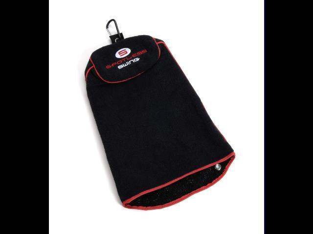 Spotless Swing Golf Towel Black 3-in-1 Protect Clubs
