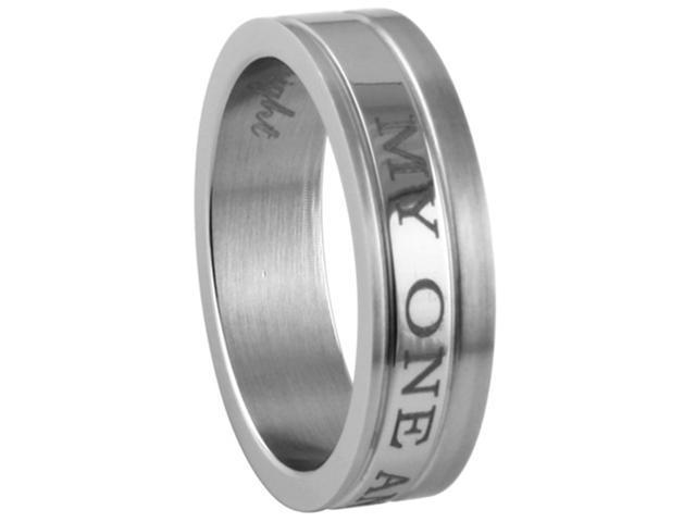 "316L Stainless Steel ""My One And Only"" Ring"
