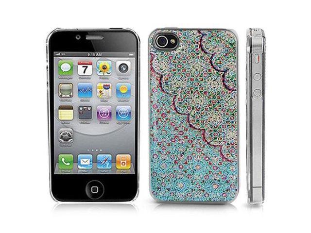 Clear Snap-On iPhone Cover Case for 4/4S iPhone. BLUE ROSE MOSAIC Logo Design. Height: 4.5 Inches X Width: 2.5 Inches X Thickness: ...