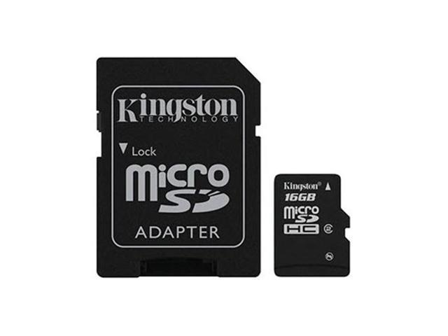 Kingston 16gb Micro Sdhc Memory Card W Sd Adapter