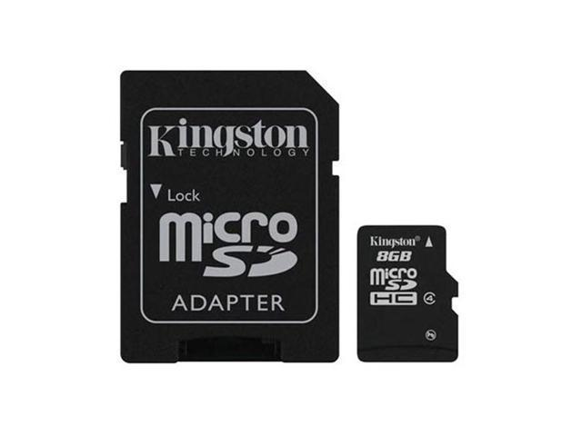 Kingston 8gb Micro Sdhc Memory Card W Sd Adapter