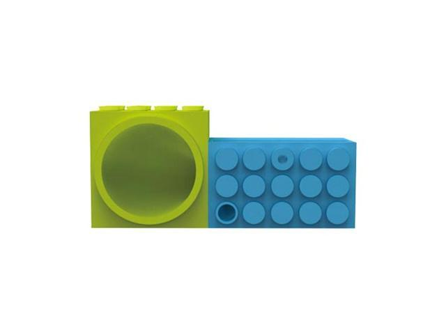 Blue Green Toy Bricks OEM Ozaki Icarry Time2brick Stand & Amplifier For Apple Iphone 4s 4
