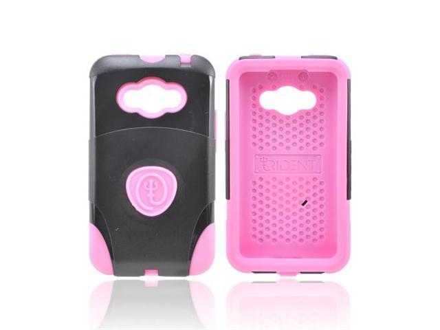 Pink/ Black OEM Trident Aegis LG Optimus Elite Hard Cover Over Silicone Case w/ Screen Protector