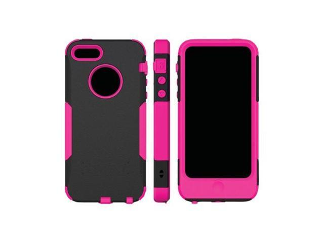Pink/ Black OEM Trident Aegis Apple Iphone 5 Hard Cover Over Rubbery Soft Silicone Skin Case W/ Screen Protector