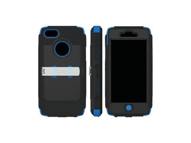 Blue/Black OEM Trident Kraken AMS Apple Iphone 5 Plastic Cover On Silicone W/Screen Protector, Kickstand & Belt Clip