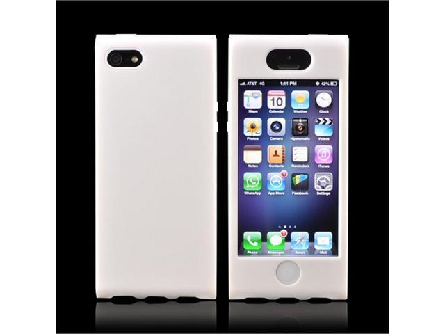 High Quality Apple Iphone 5 Plastic Cover Over Silicone - White