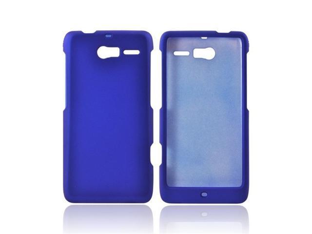 Motorola Droid RAZR M Rubberized Plastic Cover - Blue