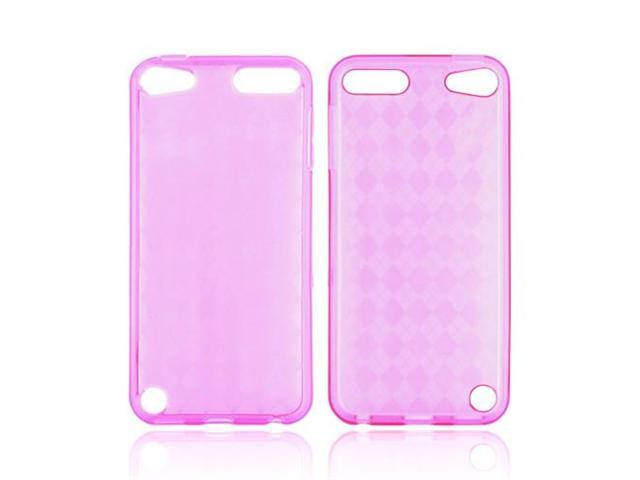 Apple Ipod Touch 5 Crystal Rubbery Soft Silicone Skin Case - Hot Pink