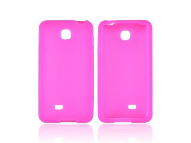 LG Escape Rubbery Soft Silicone Skin Case - Hot Pink