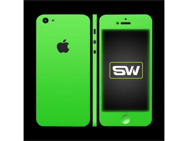 OEM Slickwraps Apple Iphone 5 Protective Skin & Screen Protector Film Guard - Glow In The Dark Green