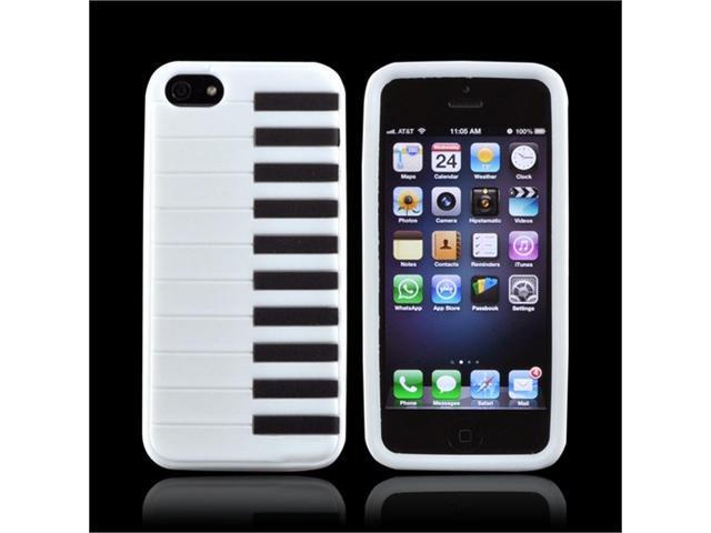 White Piano Apple Iphone 5 Rubbery Soft Silicone Skin Case