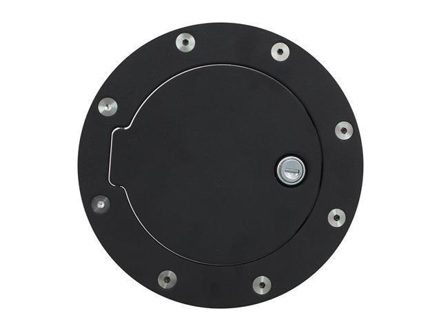 Bully Fuel Filler Door Cover Textured Black Powder Coat Billet Aluminum BBS-1221CK