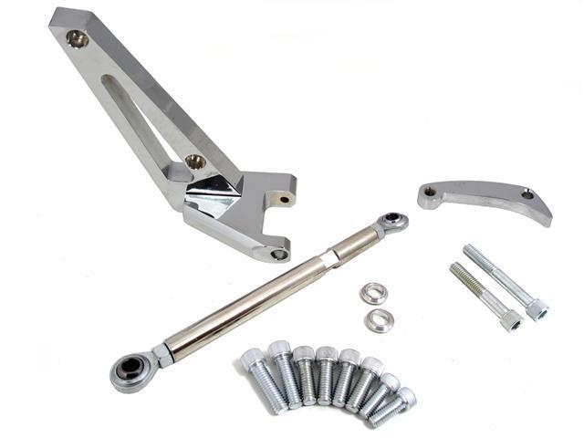 Alternator Bracket, Chrome Plated Aluminum, Water Pump Mount, Short Water Pump, Chevy, Small Block Kit