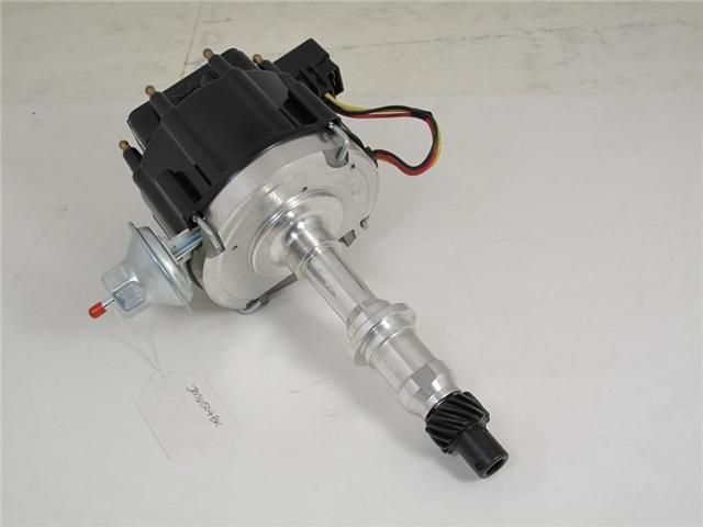 TSP HEI DISTRIBUTOR - PONTIAC V8 ENGINES, 50K V COIL, BLACK CAP JM6504BK