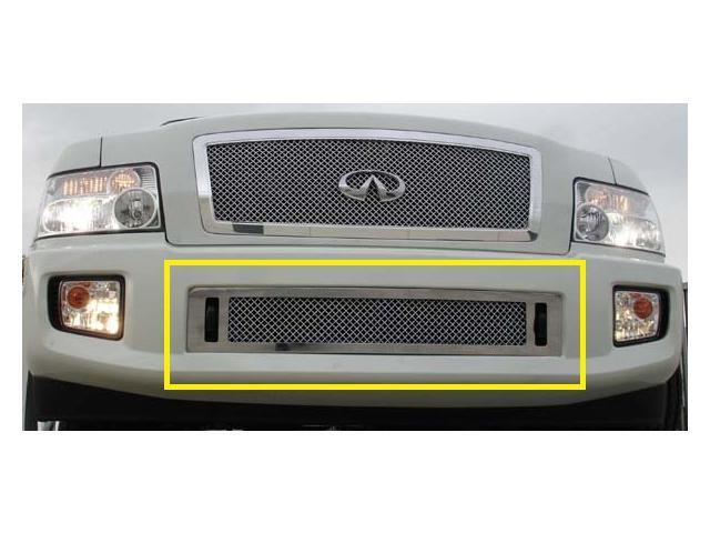 T-REX 2004-2010 Infiniti QX (Except road sensing cruise) HYBRID Series Bumper - CHROME EDITION - w/Wire Mesh CHROME 85791