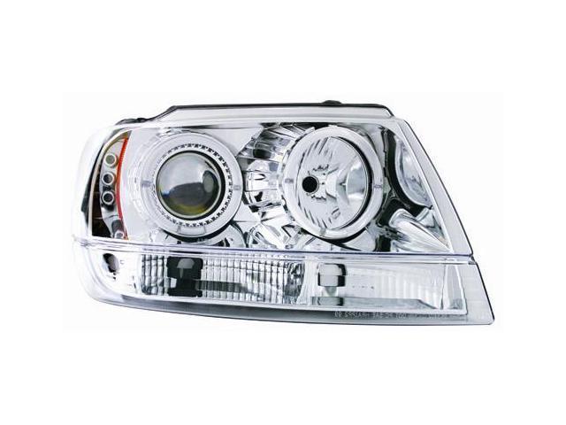 IPCW Projector Headlight CWS-5002C2 99-04 Jeep Grand Cherokee Chrome