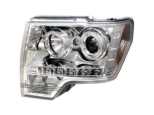 IPCW CWS-568C2 Ford F150, F250 Ld 2009 - 2013 Head Lamps, Projector With Rings Chrome
