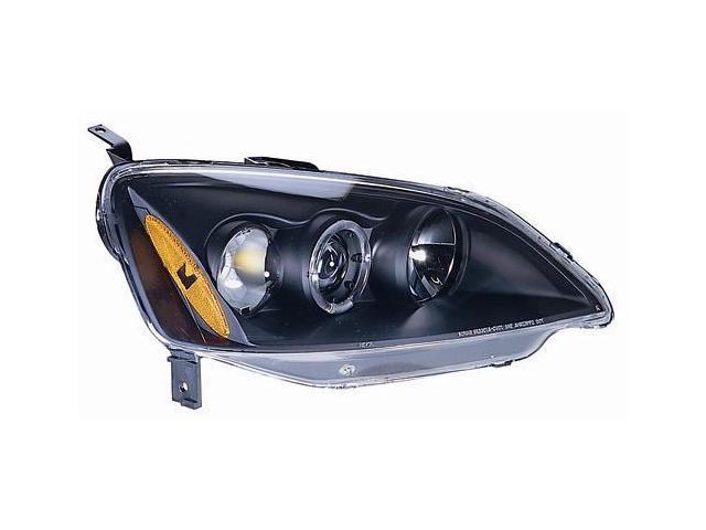 IPCW Projector Headlight CWS-736B2 01-03 Honda Civic Black