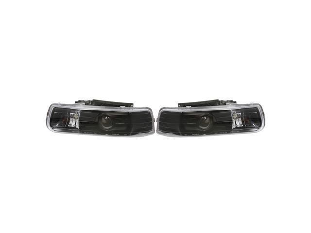 APC Black Projector Head Lamps, Chevrolet Silverado/ Suburban / Tahoe  403650HLB