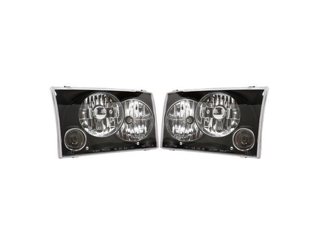 APC Black Head Lamps, w/ Projector Fog Lamps, Ford F250/F350 SD / Excursion  403622HLB