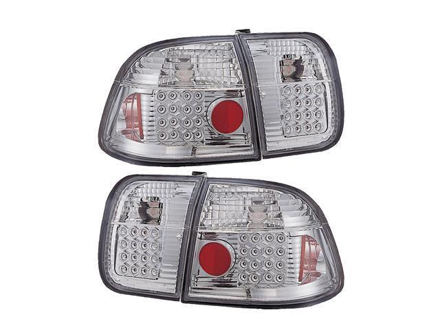 APC Clear Led Tail Lamps, 96-98 Honda Civic 4 Door  406271TL