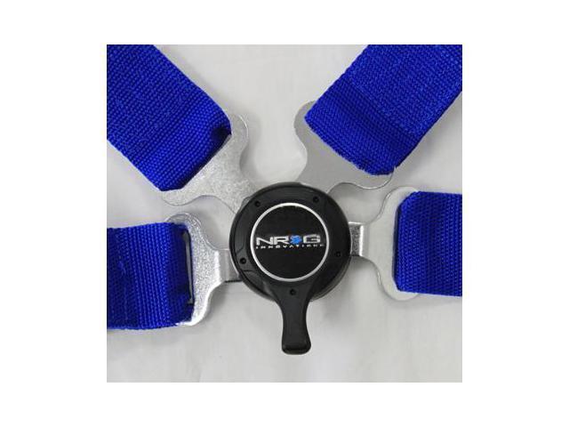 NRG 4 Point Seat Belt Harness / Cam Lock- Blue SBH-4PCBL