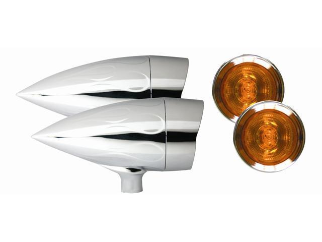 Adjure XL-1 BULLET LIGHTS (1-9/16 DIAMETER) HALOGEN - FLAMED HOUSING VISOR BEZEL 20W XL1F3HA AMBER LENS