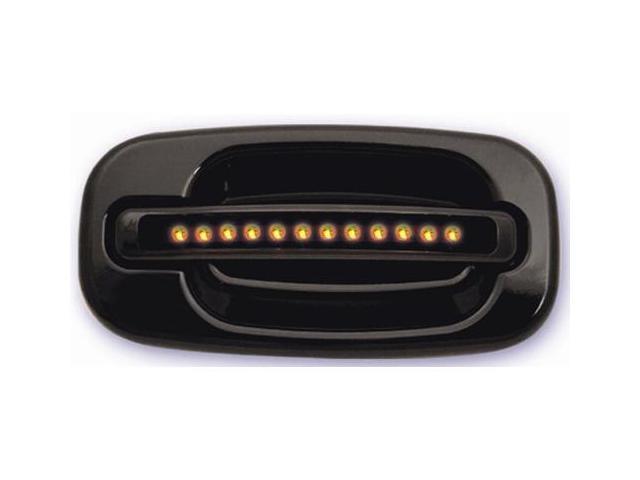 IPCW 99-06 Chevy Silverado/Avalanche/Suburban/Tahoe Cadillac Escalade GMC Sierra/Yukon/XL LED Door Handle Rear Black (2ps/set) No Key Hole Amber LED/Smoke Lens CLY99B18R