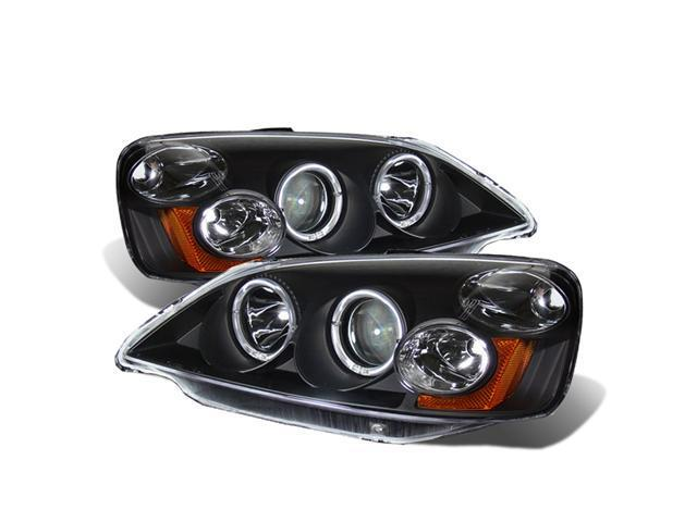 CG HONDA CIVIC 01-03 PROJECTOR HEADLIGHT HALO BLACK CLEAR AMBER 02-AZ-HC01-PBC-R-A PAIR