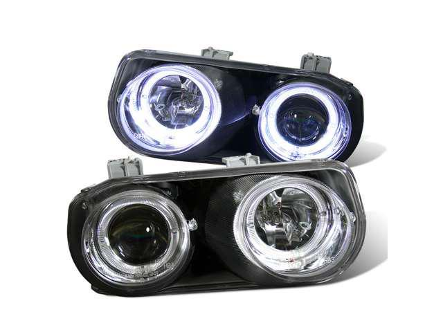 CG ACURA INTEGRA 98-01 PROJECTOR HEADLIGHT HALO CHROME CLEAR 02-AZ-AI98-PCC-RIM PAIR
