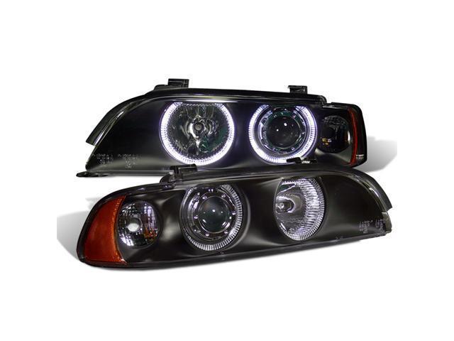 CG BMW 5 SERIES E39 95-01 PROJECTOR HEADLIGHT HALO BLACK CLEAR AMBER REFLECTOR 02-AZ-B595-PBC-R-A PAIR