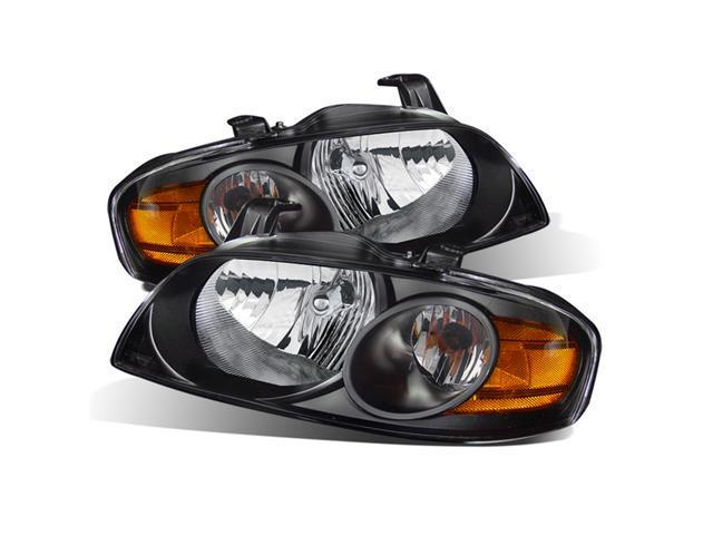 CG NISSAN SENTRA 04-06 HEADLIGHT BLACK AMBER 02-AZ-NS04-B-A PAIR