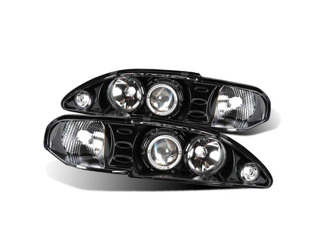 CG FORD MUSTANG 94-98 1 PC PROJECTOR HEADLIGHT HALO BLACK CLEAR AMBER 02-AZ-FM94-PBC-R-1-A PAIR