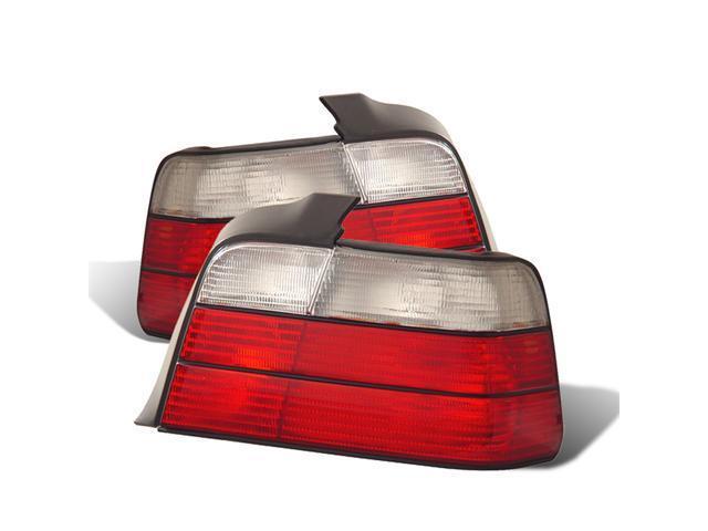 CG BMW 3 SERIES E36 92-98 4 DR TAILLIGHT RED/SMOKE 03-B39298TLR4DSM PAIR
