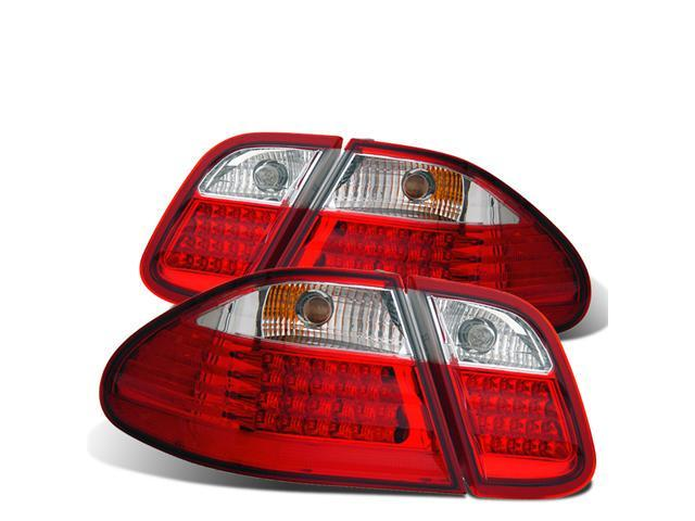 CG MBZ CLK 320 430 W208 98-03 L.E.D TAILLIGHT RED/CLEAR 03-MBZCLK98TLED PAIR