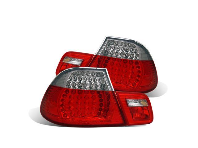 CG BMW 3 SERIES E46 99-08 CONVERTIBLE L.E.D TAILLIGHT SET RED/CLEAR 4 PCS 03-B399TLED-C PAIR