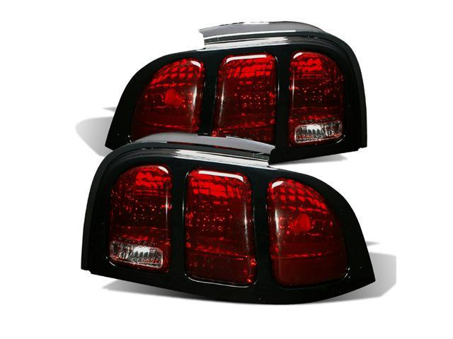 CG FORD MUSTANG 94-98 TAILLIGHT DARK RED 03-FM9498TLDR PAIR