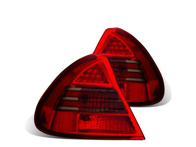 CG MITSUBISHI MIRAGE 99-02 L.E.D TAILLIGHT RED/SMOKE 03-MM9801TLEDRCRS PAIR