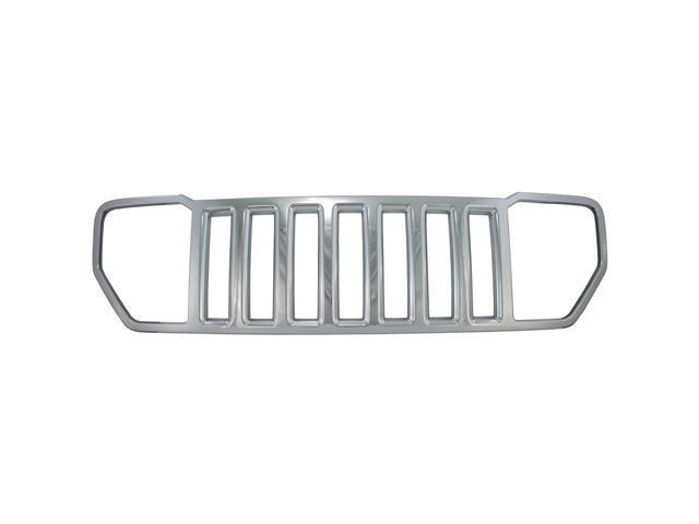 Bully Chrome Grille for a 08-09 JEEP LIBERTY 1pc OVERLAY STYLE  CLIP-ON ONLY Grille Insert GI-55