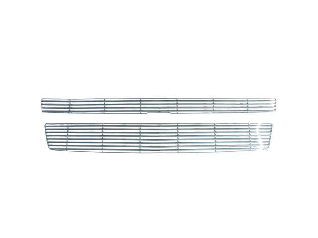 Bully Chrome Grille for a 07-09 CHEVY SUBURBAN / 07-10 CHEVY TAHOE 2pcs BAR STYLE  CLIP-ON ONLY Grille Insert GI-33
