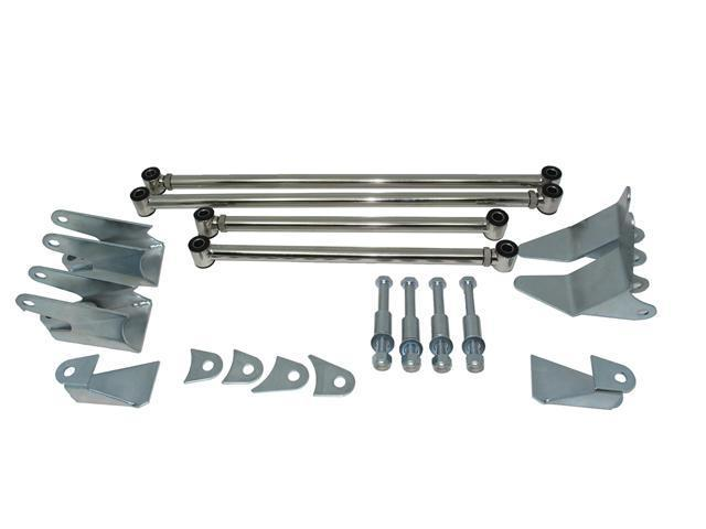 TSP 33 Ford Triangulated 4 Link Rear End Kit Stainless Steel CB5102