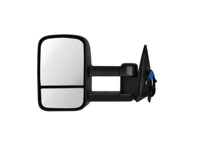 Pilot 99-02 Chevrolet Silverado Telescoping Type w/ Towing Type Extendable 99-02 GMC Sierra Telescoping Type w/ Towing Type Extendable Power Heated Mirror Left Black Textured CVE59410LL